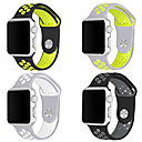 abordables Phares de Voiture-Bracelet de Montre  pour Apple Watch Series 4/3/2/1 Apple Bracelet Sport Silikon Sangle de Poignet