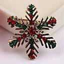 cheap Brooches-Brooches - Snowflake Fashion Brooch Gold For Christmas / Gift