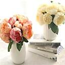 hesapli Takı Paketleme ve Gösterim-Yapay Çiçekler 6 şube Modern Şakayıklar Masaüstü Çiçeği