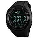 hesapli Erkek Saatleri-SKMEI Erkek Spor Saat Quartz 50 m Su Resisdansı Bluetooth Takvim PU Bant Dijital Lüks Günlük Moda Siyah / Haki / Yonca - Siyah Yeşil / Adım Sayaçları / Kronometre