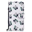 baratos Capinhas para iPhone-Capinha Para Apple iPhone X iPhone 8 Plus Porta-Cartão Carteira Com Suporte Flip Estampada Capa Proteção Completa Panda Rígida PU Leather