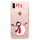 cheap iPhone Cases-Case For Apple iPhone X / iPhone 8 Transparent / Pattern Back Cover Christmas Soft TPU for iPhone XS / iPhone XR / iPhone XS Max