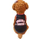 preiswerte Auto Scheinwerfer-Hund Weste Hundekleidung Buchstabe & Nummer Schwarz Rot Baumwolle Kostüm Für Haustiere Herrn Damen Modisch