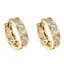 ieftine Cercei-Pentru femei Zirconiu Cubic diamant mic Cercei Rotunzi Cercei Huggie femei Zirconiu Placat Auriu cercei Bijuterii Auriu Pentru Zilnic