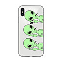 tanie Etui do iPhone-Kılıf Na Apple iPhone X iPhone 8 Plus Etui iPhone 5 iPhone 6 iPhone 7 Ultra cienkie Przezroczyste Wzór Czarne etui Rysunek Miękkie TPU na