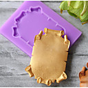 baratos Acessórios & Roupas para Cachorros-Ferramentas bakeware silica Gel Férias / Aniversário / Ano Novo para Candy Redonda Moldes de bolos 1pç