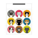 hesapli Araçlar ve Makinalar-kedi sızdırmazlık macunu 1pc kağıda starhouse etiketleri miktar malzeme marka türü