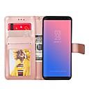 رخيصةأون حافظات / جرابات هواتف جالكسي S-غطاء من أجل Samsung S8 Plus / S8 / S7 edge محفظة / حامل البطاقات / مع حامل غطاء كامل للجسم لون سادة قاسي جلد PU