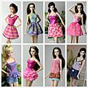 preiswerte Barbie Kleidung-Prinzessin Kostüme Für Barbie-Puppe Polyester Röcke Top Kleid Hosen Für Mädchen Puppe Spielzeug