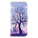 baratos Capinhas para Galaxy Série S-Capinha Para Samsung Galaxy S9 S9 Plus Porta-Cartão Carteira Com Suporte Flip Estampada Capa Proteção Completa Árvore Corujas Rígida PU
