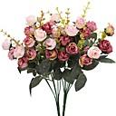 ieftine Proiectoare LED-Flori artificiale 2 ramură Pastoral Stil Trandafiri Față de masă flori
