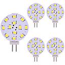 hesapli LEDler-5pcs 2W 180lm G4 LED Bi-pin Işıklar 12 LED Boncuklar SMD 2835 LED Işık Sıcak Beyaz Serin Beyaz 12V