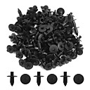 hesapli Makyaj ve Tırnak Bakımı-100pcs siyah 7mm araba tampon itme tarzı iğne klipleri plastik perçin trim fermuar