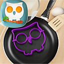 hesapli Pişirme Aletleri ve Kap-Kacaklar-1pc Mutfak aletleri Silikon Pişirme Aracı / Yaratıcı Mutfak Gadget / Kendin-Yap DIY Kalıp / Yumurta Malzemeleri Yumurta için