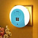 tanie Nowe światła LED-BRELONG® 1szt Wall Plug Nightlight Smart Sensor Podwójne USB US Ładowarka Łoże boleści Kontrola światła