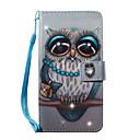 baratos Luminárias de LED  Duplo-Pin-Capinha Para Samsung Galaxy S7 edge / S7 Carteira / Porta-Cartão / Com Strass Capa Proteção Completa Corujas Rígida PU Leather para S7 edge / S7 / S6 edge