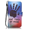 cheap iPod Cases/Covers-Case For iTouch 5/6 Wallet Card Holder with Stand Pattern Auto Sleep/Wake Up Full Body Cases Hard