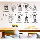 hesapli Çıkartmalar ve Desenler-Dekoratif Duvar Çıkartmaları - 3D Duvar Çıkartması Yiyecek / Yiyecek & İçeçek Mutfak / Alışveriş ve Kafeler