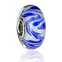 hesapli Boncuklar-DIY Mücevherat 1 adet Koraliki Renkli Parlatıcı alaşım Navy Mavi Yuvarlak boncuk 0.2 cm DIY Kolyeler Bilezikler
