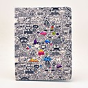 cheap iPad  Cases / Covers-Case For Apple iPad Air 2 / iPad 4/3/2 / iPad Air with Stand / Flip / Pattern Full Body Cases Cartoon Hard PU Leather for iPad Air / iPad 4/3/2 / iPad Air 2