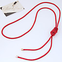 cheap Necklaces-Women's Long Y Necklace - Simple, European Dark Blue, Red, Pink Necklace Jewelry For Daily