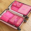 ieftine Ceasuri Damă-6 seturi Geantă Călătorie / Organizator de călătorii / Organizator Bagaj de Călătorie Capacitate Înaltă / Impermeabil / Portabil Sutiene / Haine Îmbrăcăminte Oxford Călătorie / Durabil