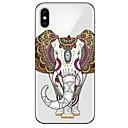 ieftine Carabiniere-Maska Pentru Apple iPhone X / iPhone 8 Plus / iPhone 8 Ultra subțire / Model Capac Spate Animal / Elefant Moale TPU