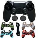 hesapli Xbox One Aksesuarları-Kablosuz bluetooth oyun denetleyicisi gamepad denetleyici joystick gamepad için ps4 için silikon kılıf ile