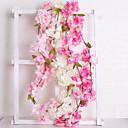 billige Bakeredskap og utstyr-Kunstige blomster 1 Gren Bryllup Europeisk Sakura Veggblomst