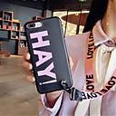 levne Cool & Fashion pouzdra pro iPhone-Carcasă Pro Apple iPhone X / iPhone 7 Plus Vzor Zadní kryt Slovo / citát Měkké Silikon pro iPhone X / iPhone 8 Plus / iPhone 8