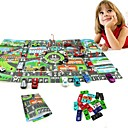 preiswerte Anime Cosplay-10Pcs Cars &1Pcs Map 83*58CM City PARKING LOT Roadmap Spielzeug-Autos Fahrzeuge Landkarten Auto Metalllegierung Kinder Jungen Mädchen Spielzeuge Geschenk