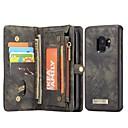 levne Galaxy S pouzdra / obaly-Carcasă Pro Samsung Galaxy S9 Peněženka / Pouzdro na karty / se stojánkem Celý kryt Pevná barva Pevné Pravá kůže pro S9