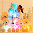 cheap Drawing Toys-Romance Creative Teddy Bear Stuffed Animal Plush Toy Lovely LED Silicone Girls' Toy Gift