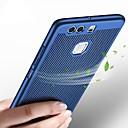 tanie Etui / Pokrowce do Huawei-Kılıf Na Huawei P10 Lite P10 Ultra cienkie Czarne etui Solid Color Twarde Plastikowy na P10 Plus P10 Lite P10 Huawei P9 Plus Huawei P9