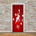 preiswerte Backzubehör & Geräte-Herzen Feen Wand-Sticker Flugzeug-Wand Sticker 3D Wand Sticker Dekorative Wand Sticker Türaufkleber, Vinyl Haus Dekoration Wandtattoo