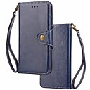 cheap Necklaces-Case For Huawei P10 Lite P10 Card Holder Wallet Flip Magnetic Full Body Cases Solid Colored Hard Genuine Leather for P10 Plus P10 Lite