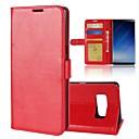 رخيصةأون حالات / أغطية ون بلس-غطاء من أجل Samsung Galaxy Note 8 محفظة / حامل البطاقات / مع حامل غطاء كامل للجسم لون سادة قاسي جلد PU