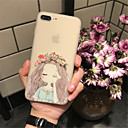 cheap iPhone Cases-Case For Apple iPhone X iPhone 7 Plus Pattern Embossed Back Cover Painting Soft TPU for iPhone X iPhone 8 Plus iPhone 8 iPhone 7 Plus