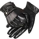 halpa Sisustus-Urheilullinen Pisin sormi Miesten Moottoripyörän käsineet PU Leather/Polyurethane Leather Pidä lämpimänä Fleece-vuori Urheilu
