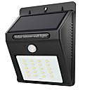 hesapli LED Güneş Enerjili Işıklar-1pc 2W LED Güneş Işıkları Kızılötesi Sensör Su Geçirmez Işık Kontrolü Açık Hava Aydınlatma Beyaz DC3.7V