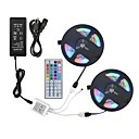 cheap LED Strip Lights-ZDM 2*5M 2835 RGB 600 LEDs 36W Strip Flexible Light LED with 44Key IR Remote Controller Kit and 12V 3A Power Supply AC110-240V