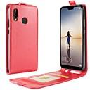 저렴한 Huawei 케이스 / 커버-케이스 제품 Huawei P20 lite P20 카드 홀더 플립 전체 바디 케이스 솔리드 하드 PU 가죽 용 Huawei P20 lite Huawei P20