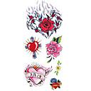 cheap Temporary Tattoos-1 pcs Tattoo Stickers Temporary Tattoos Totem Series / Flower Series Waterproof Body Arts Body / Arm / Shoulder