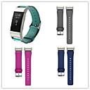 hesapli Saat Aksesuarları-Watch Band için Fitbit Charge 2 Fitbit Deri Döngü Metal / Deri Bilek Askısı