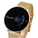 preiswerte Barfußsandalen-Damen Paar Uhr Armbanduhren für den Alltag Sportuhr Modeuhr Quartz Legierung Silber / Gold Armbanduhren für den Alltag digital Luxus Freizeit Gold / Weiß Schwarz / Silber Weiß / Silber