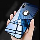 levne Galaxy S pouzdra / obaly-Carcasă Pro Apple iPhone X Zrcadlo Zadní kryt Jednobarevné Pevné Tvrzené sklo pro iPhone X / iPhone 8 Plus / iPhone 8