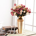رخيصةأون أزهار اصطناعية-زهور اصطناعية 1 فرع التقليدية / الكلاسيكية أوروبي المزهرية أزهار الطاولة / واحدة زهرية