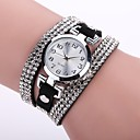 cheap Women's Watches-Women's Casual Watch / Bracelet Watch / Simulated Diamond Watch Chinese Casual Watch / Imitation Diamond PU Band Casual / Fashion Black / White / Blue / One Year