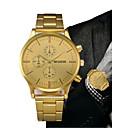 ieftine Benzi Lumină LED-Bărbați Ceas Elegant Auriu Cronograf Creative Mare Dial Analog Lux Clasic - Negru Auriu Un an Durată de Viaţă Baterie / SSUO LR626