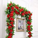 رخيصةأون أزهار اصطناعية-زهور اصطناعية 1 فرع حفلة / سهرة الزفاف الورود أزهار الحائط